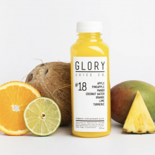 Glory Juice's most popular product is their Cold-Pressed Juice with 100% organic fruits and vegetables